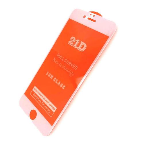 Защитное стекло 21D для iPhone 7 Plus белое