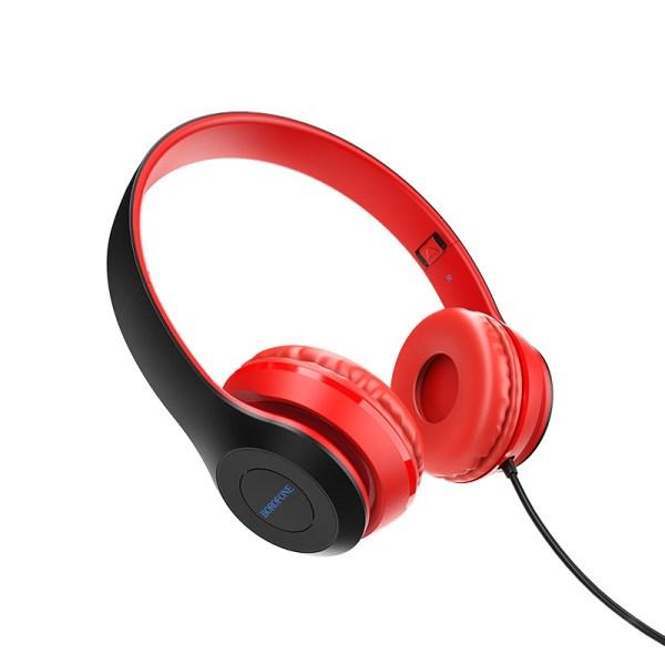 Наушники проводные Borofone B05 красные