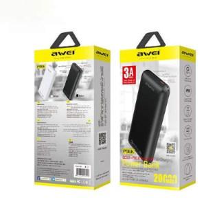 Портативный аккумулятор AWEI P96K 20000 мАч