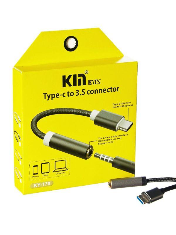 Переходник KIN KY-170 Type-C to 3.5mm Jack