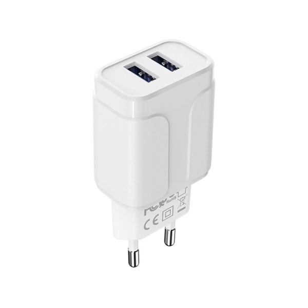Сетевое зарядное устройство Borofone BA37A Speedy dual port charger без кабеля