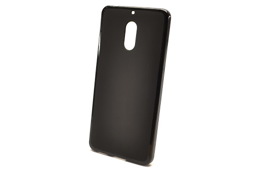 Чехол силиконовый чёрный для Nokia 6
