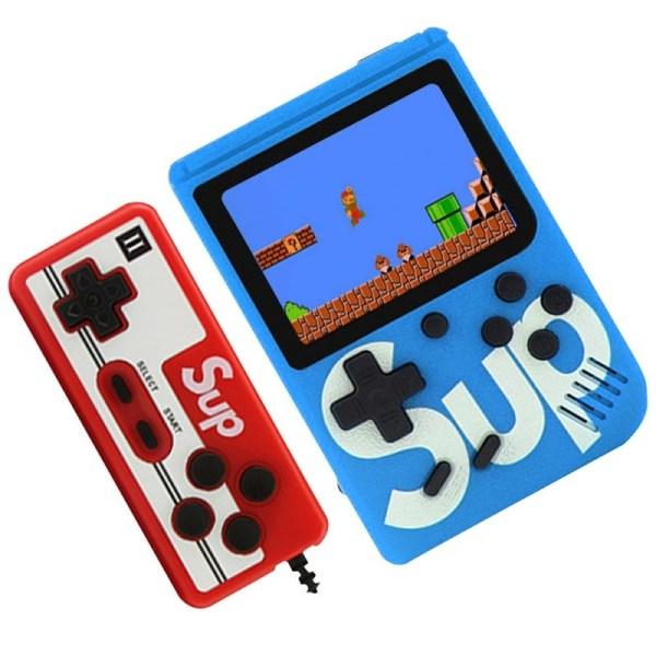 Портативная игровая приставка SUP GAME BOX PLUS 400 в 1 с джойстиком синяя