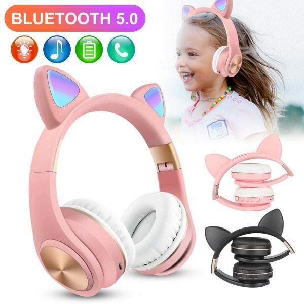 Наушники Bluetooth Cat Ear M1 с подсветкой