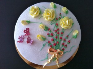 Torte-Blumenstrauß