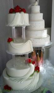 Torten-4Stock-Hochzeit