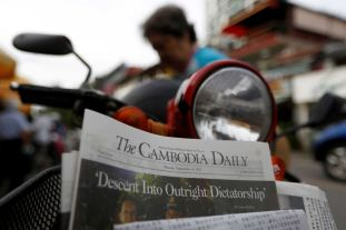 "The final issue of The Cambodia Daily newspaper declared the country had descended ""into outright dictatorship"""