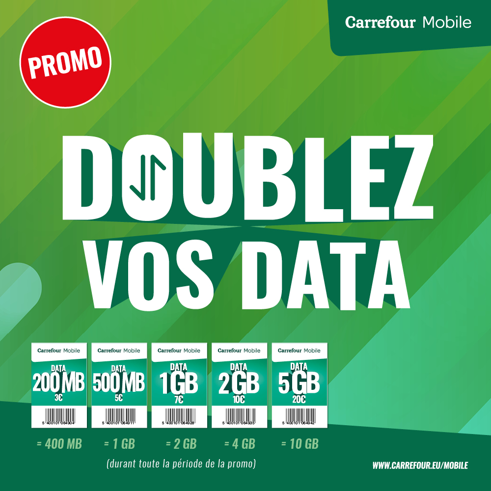 Nos Promotions Carrefour Mobile