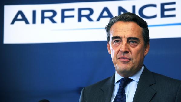 Le PDG d'Air France Alexandre de Juniac, le 28 septembre 2014, lors d'une conférence de presse à Paris.