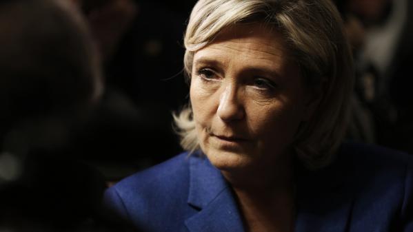Marine Le Pen, le 6 janvier 2017, à Igoville (Eure).