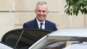 François de Rugy quitte l\'Elysée, à Paris, le 17 octobre 2018.