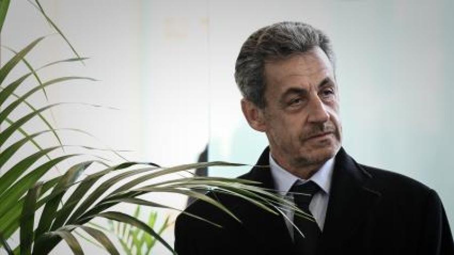 L\'ancien président Nicolas Sarkozy, le 21 mars 2019 à Paris.