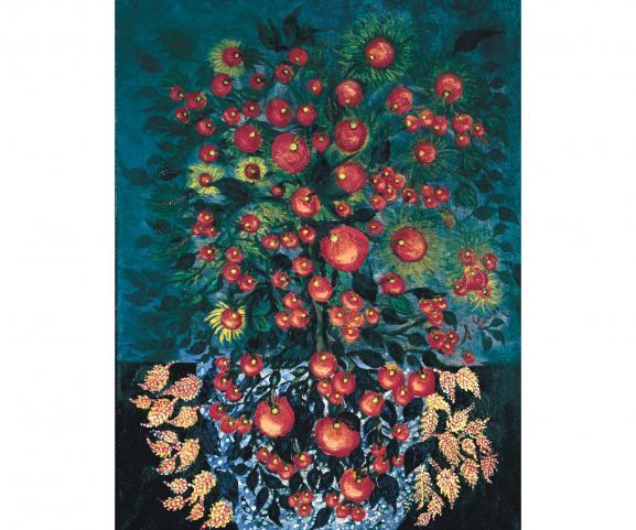 """Séraphine Louis, \""""Pommes aux feuilles\"""", 1929-1930"""