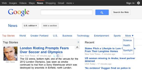 Google News ottimizzato per Honeycomb e iPad