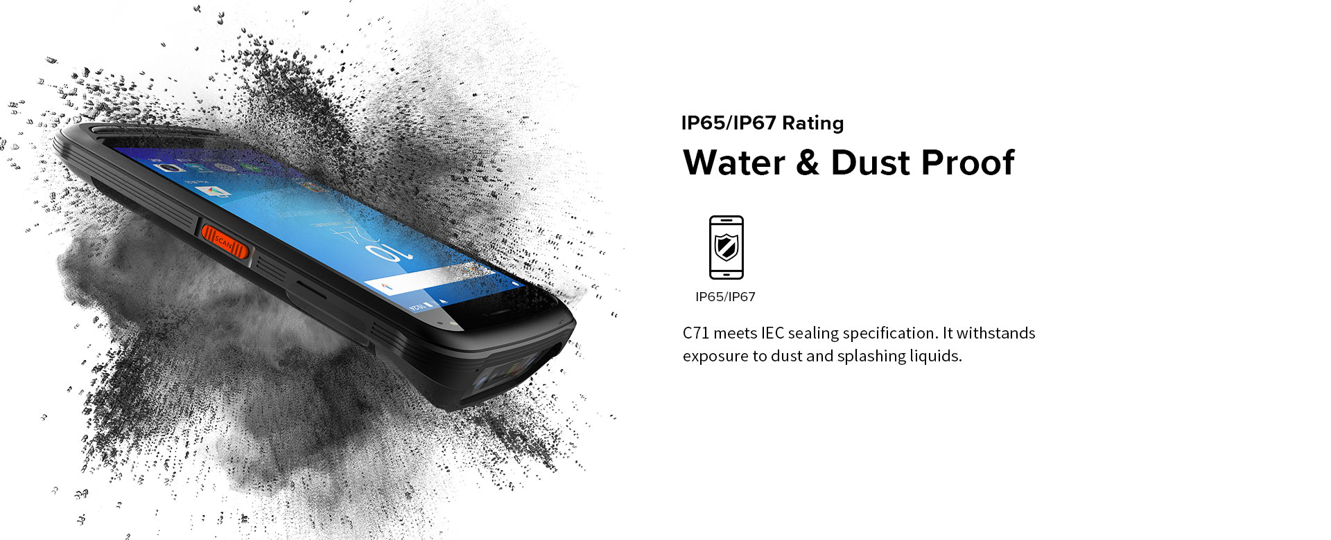 C71 - Android Industrial Mobile Computer - water & dust proof