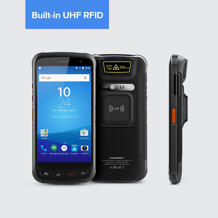 Android Industrial Mobile Computer RFID UHF built-in