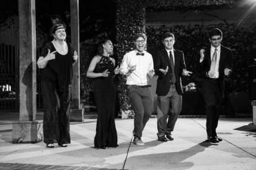 Teenagers dance at Azalea Manor