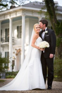 This picture-perfect bride was as beautiful as the stately and majestic Bragg-Mitchell Mansion in Mobile, Alabama, where the wedding reception lit up the night of her spring wedding.