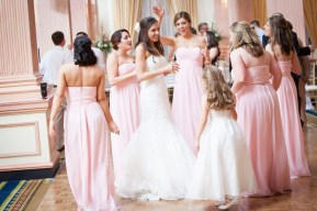 A bride has her best friends