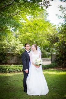 Groom is proud of his beautiful bride