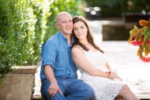 An attractive couple in a garden