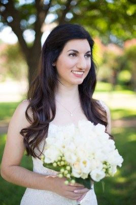 The bride's natural beauty