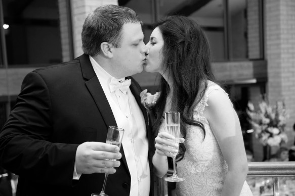 A toast and a kiss