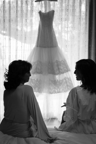 Bride and her mother start the wedding day off right