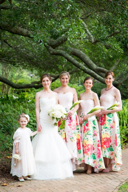 Beautiful bridesmaids and flower girl