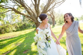 Bride with her bridesmaid at Blackwater Farms