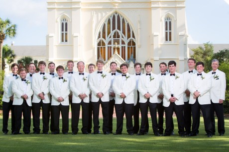 A very large party of groomsmen