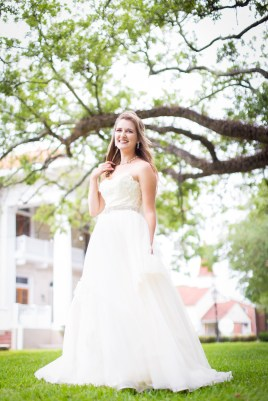 Bridal portrait at The Pillars of Mobile, Alabama