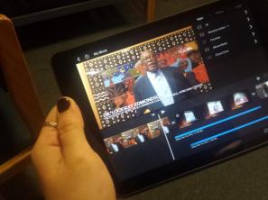 Video packages are recorded and edited on iPads.