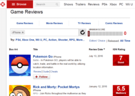 IGN.com Screengrab