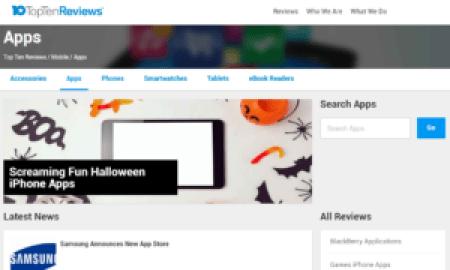 App Review Sites Top Ten Reviews Screengrab