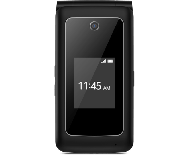 Coolpad Snap, Black, Front, Flip Phone