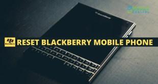 Reset Blackberry Mobile Phone