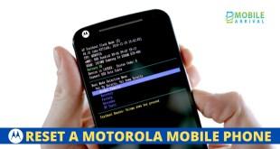 Reset a Motorola Mobile Phone