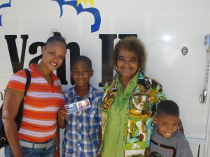 Ms. Hoskins with her grandsons