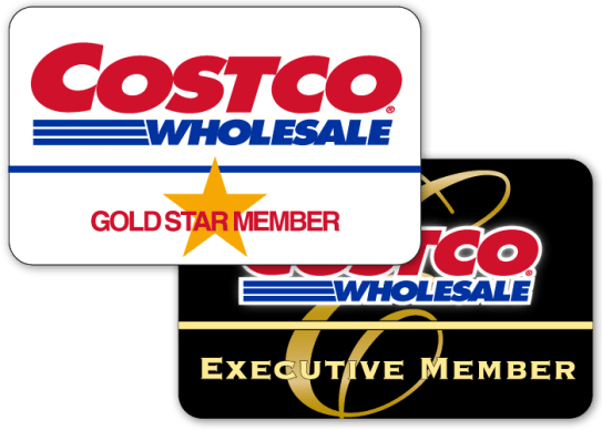 Costco Wholesale's two types of membership: their Gold Start Membership and their Executive Membership