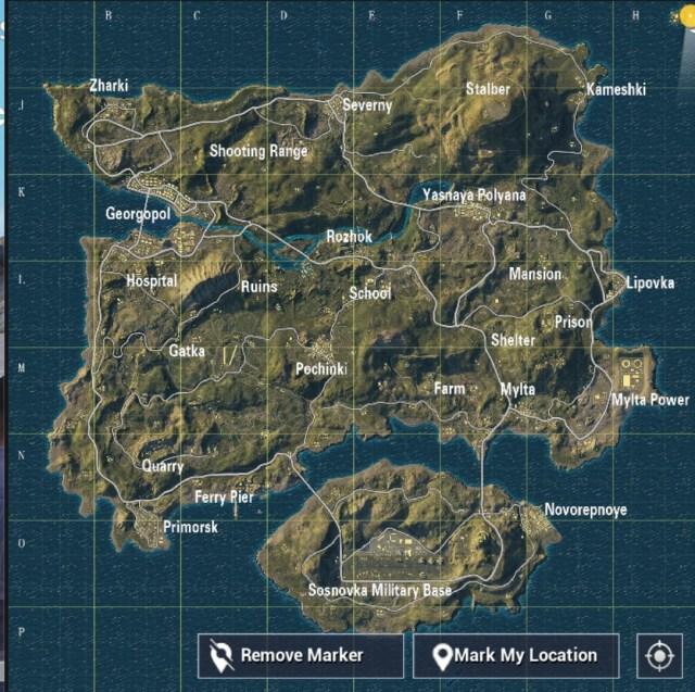Best Places To Land In PUBG Mobile Erangel