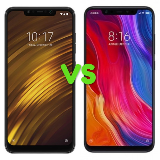 Xiaomi Pocophone F1 Vs Mi 8