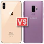 Apple iPhone XS Max Vs Samsung Galaxy S9 Plus