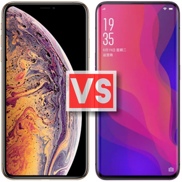 Apple iPhone XS Max Vs Oppo Find X