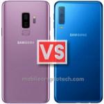 Samsung Galaxy S9 Plus Vs A7 2018