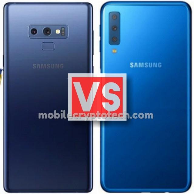 Samsung Galaxy Note 9 Vs A7 2018