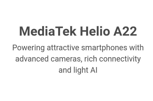MediaTek Helio A22 MT6762M