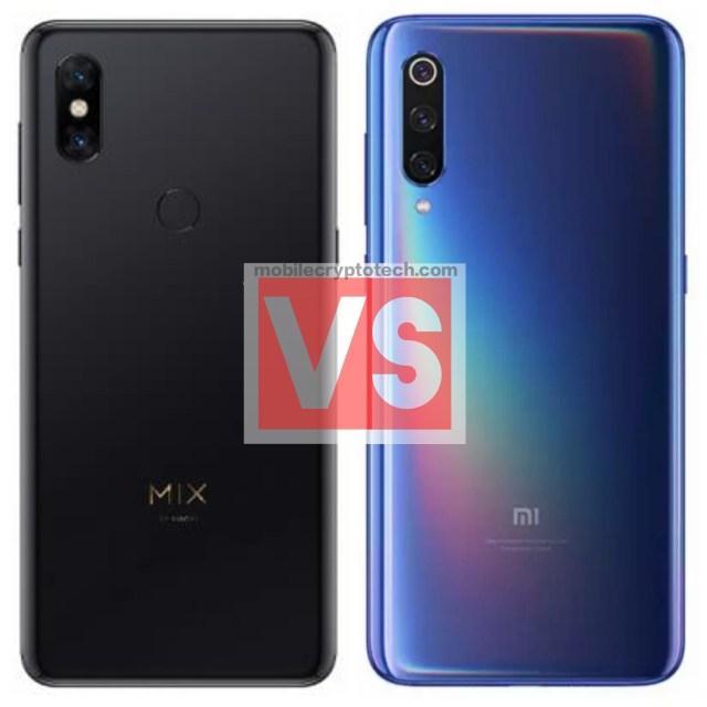 Xiaomi Mi Mix 3 Vs Mi 9