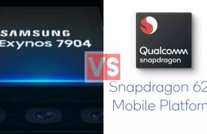 Samsung Exynos 7904 Vs Qualcomm Snapdragon 625