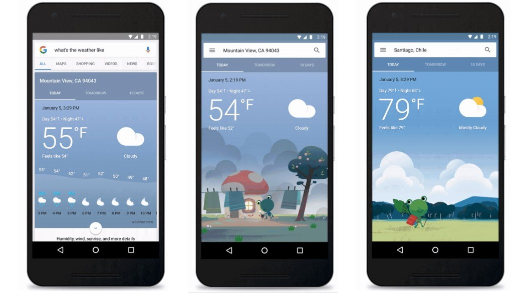 Google startet neue Wetterkarten, Frosch inklusive